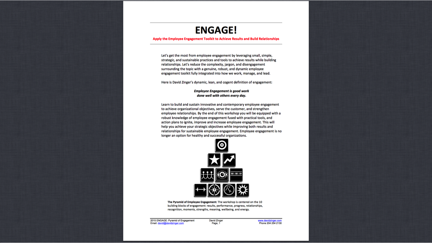 ENGAGE Course Description
