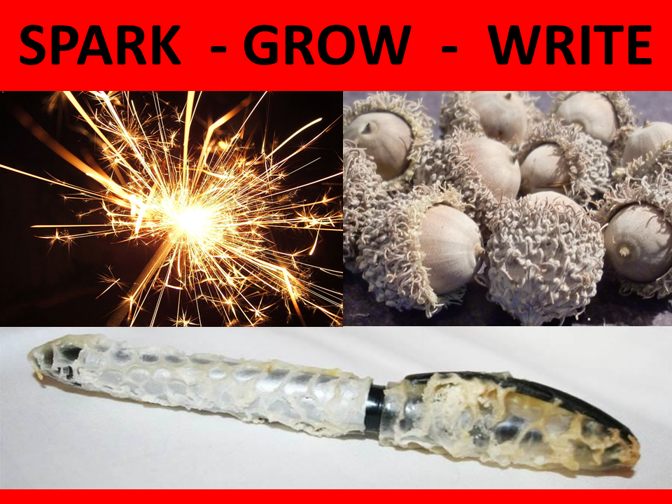 SPARK GROW WRITE 3 WORD THEME